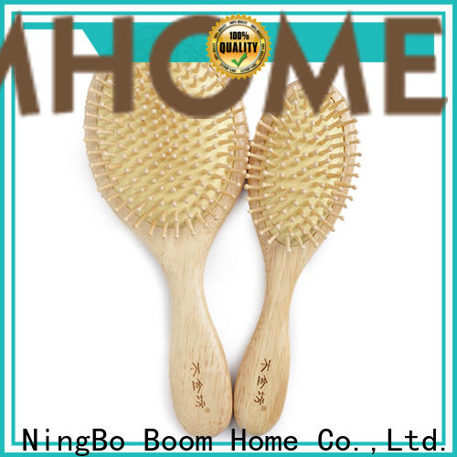 Boom Home Custom wooden handle hair brush supply for travel