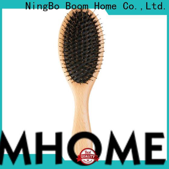 Boom Home bamboo bristle hair brush supply for hair salon