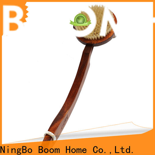 Boom Home bamboo bathtub cleaning brush for sale for dry skin