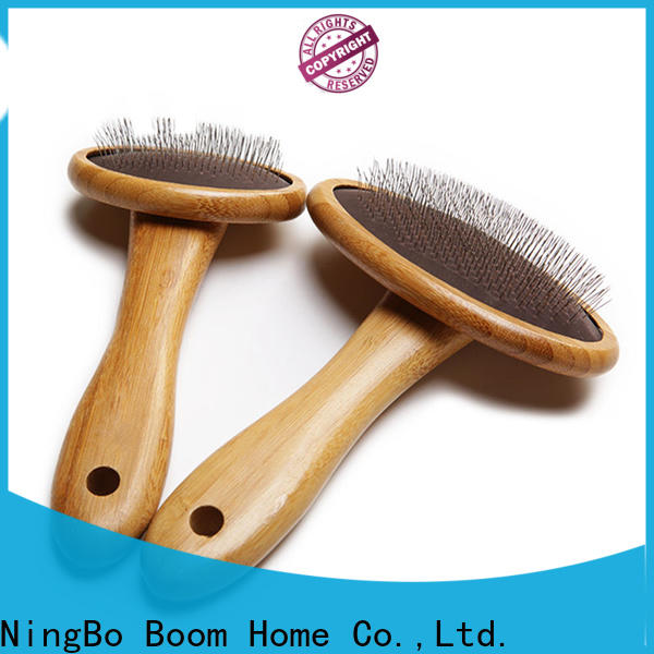 Wholesale pet grooming brush bamboo supply for household