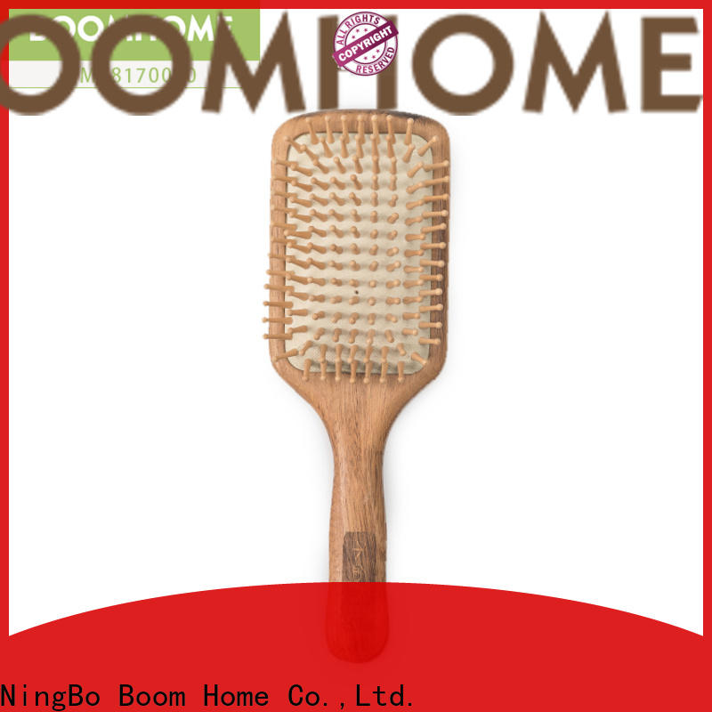Boom Home growth wood hair brush supply for hotel