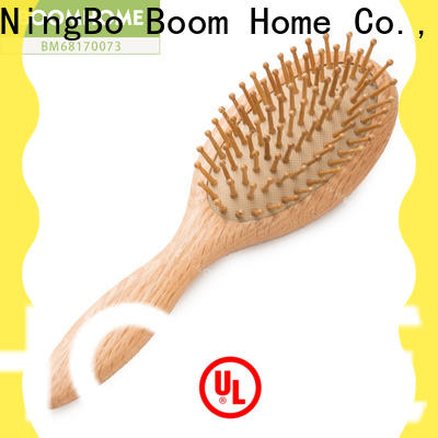 Boom Home steel wooden handle hair brush for business for home