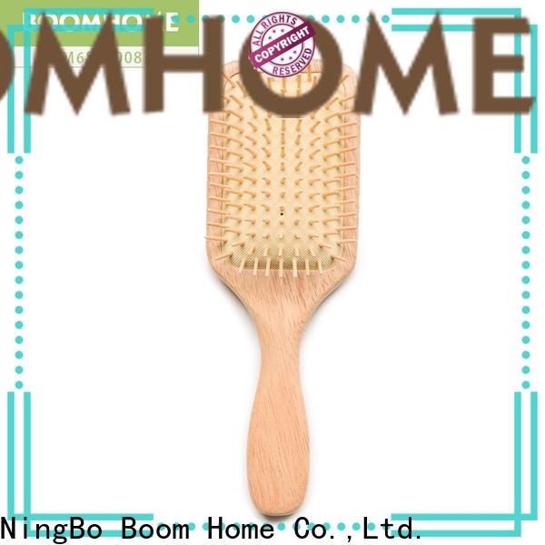 Custom wooden paddle hair brush brands for business for shop