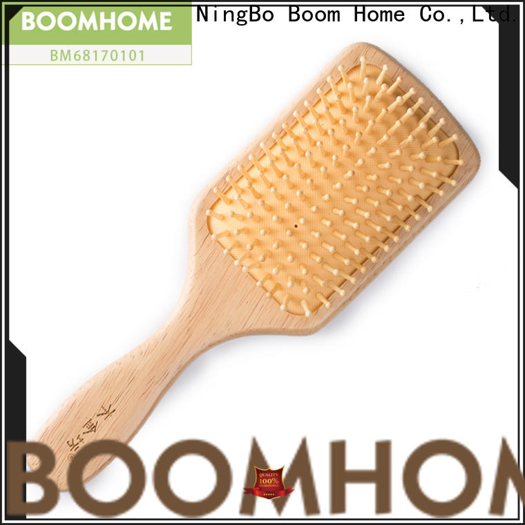 Boom Home Wholesale wooden paddle hair brush factory for hotel