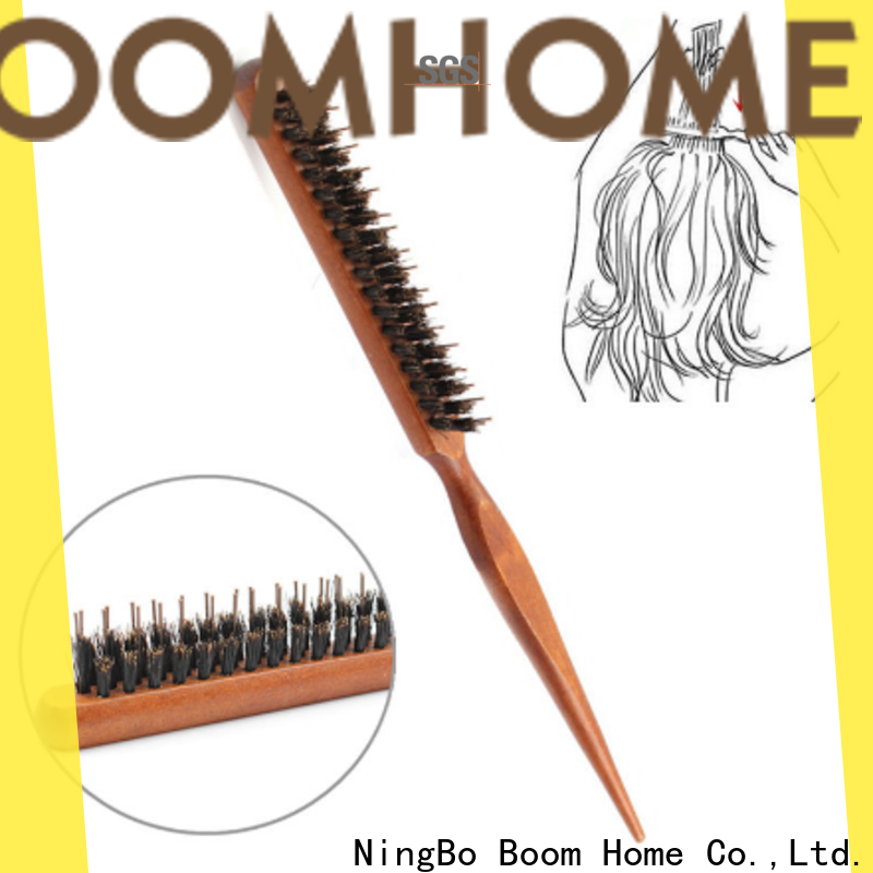 Boom Home bamboo bristle hair brush manufacturers for hair salon