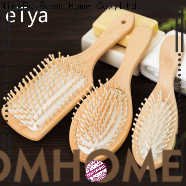 Custom wooden paddle hair brush holiday for business for shop