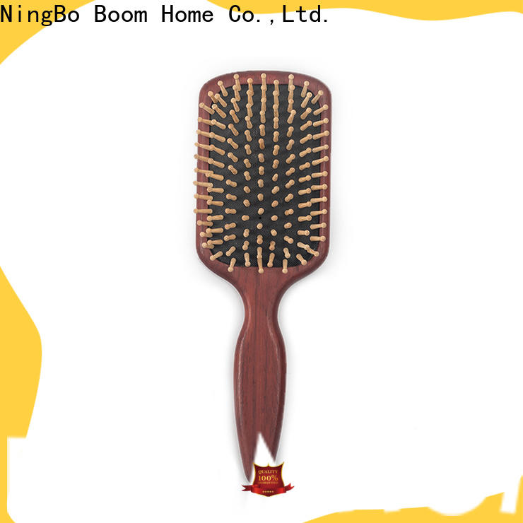 Custom wooden handle hair brush no suppliers for home