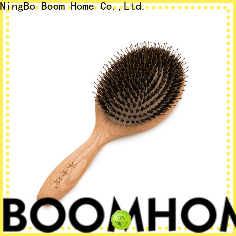 Boom Home Custom bamboo paddle brush factory for curly hair