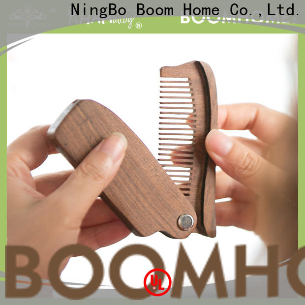 Boom Home Custom wooden paddle brush supply for hotel