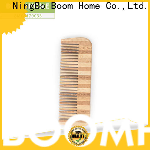 Boom Home pink bamboo hair comb for sale for thick hair