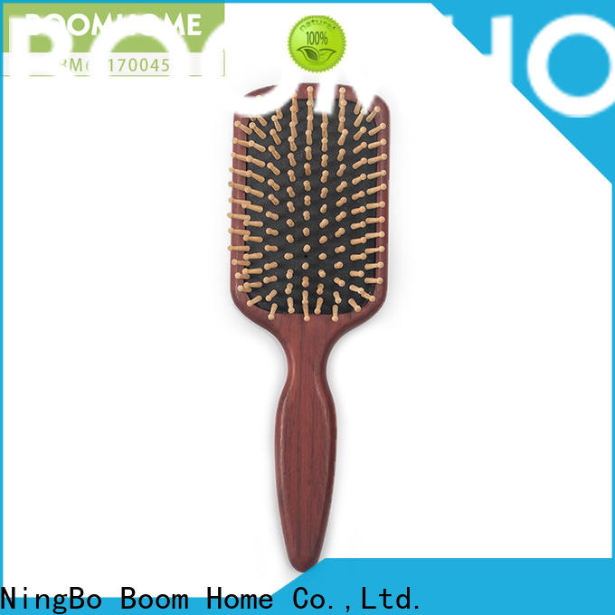 Boom Home care wood hair brush factory for shop
