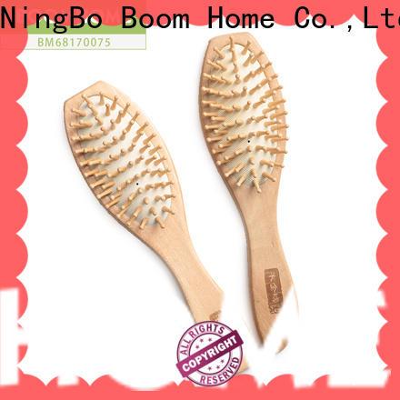 Custom wooden handle hair brush retro company for travel
