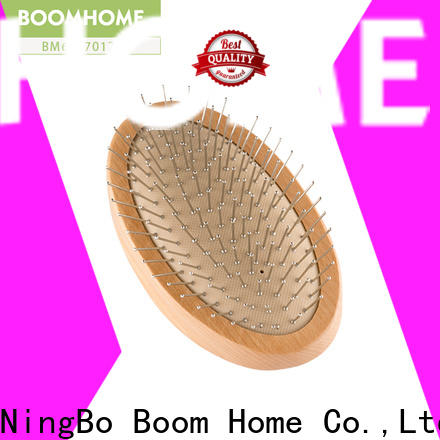 Boom Home labels wooden hair brush for business for home