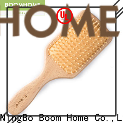 Custom wooden hair brush handle suppliers for home