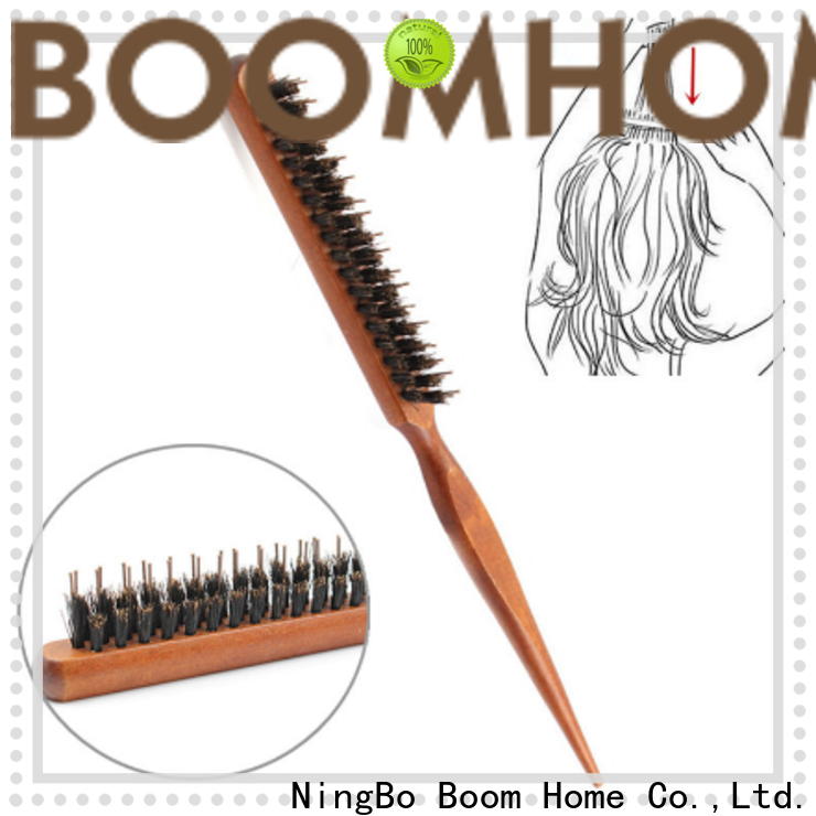 Boom Home bamboo bristle hair brush manufacturers for hair salon