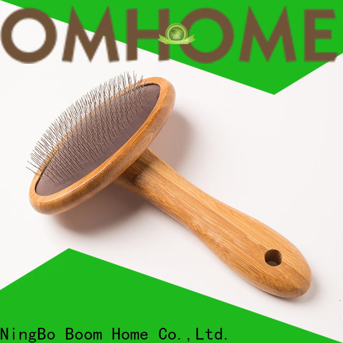 Boom Home stainless steel pins pet grooming brush factory for household
