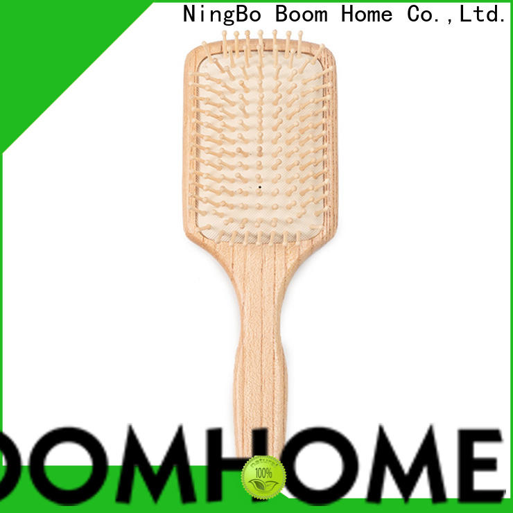 Boom Home carry wooden handle hair brush manufacturers for home