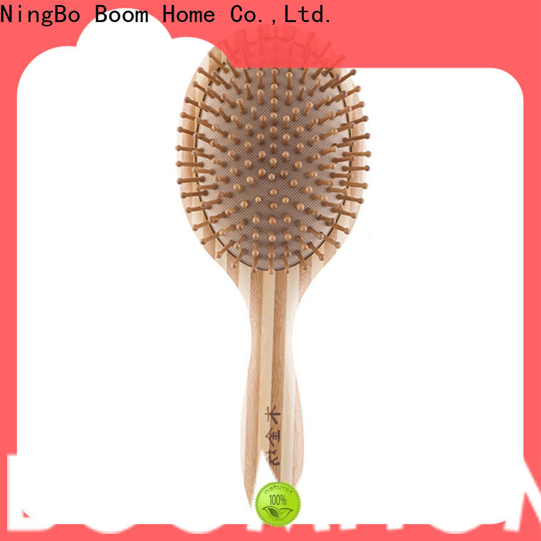 Custom bamboo hair comb round factory for thick hair