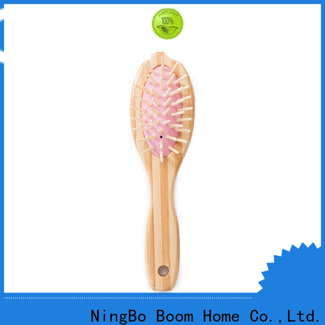 Boom Home scalp bamboo paddle brush for business for curly hair