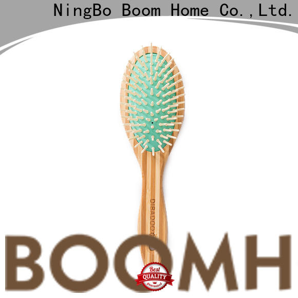 Boom Home easy bamboo paddle brush factory for curly hair