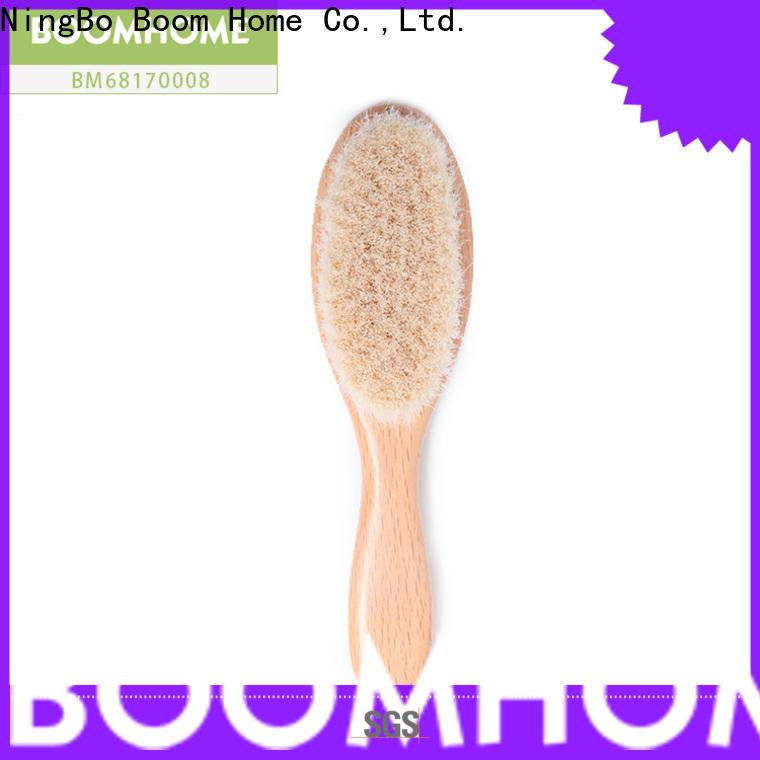 Custom infant hair brush wooden for sale for infant