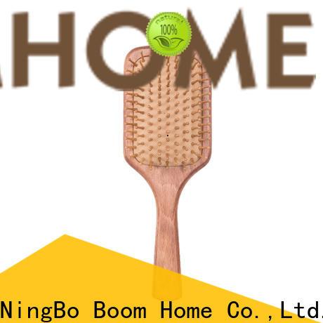 Custom wooden paddle hair brush design supply for home