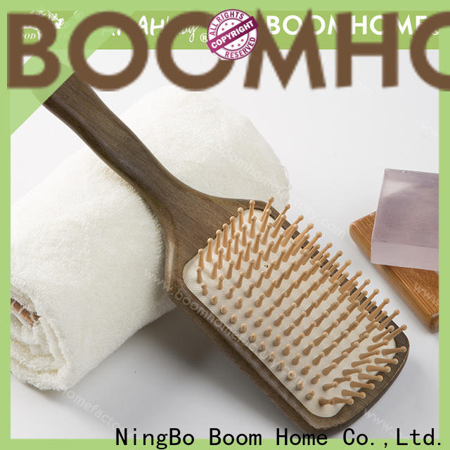 Wholesale wooden handle hair brush head supply for travel