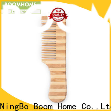 Boom Home round bamboo paddle brush company for curly hair