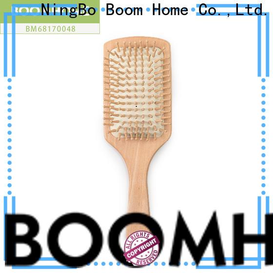 Wholesale bamboo hair brush pocket for business for men