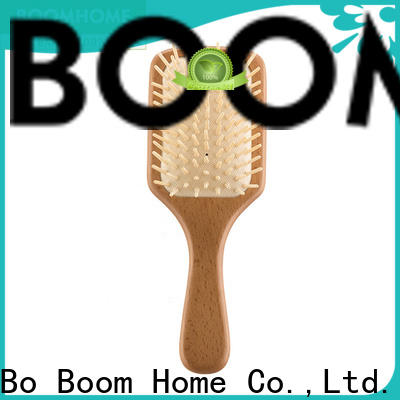 Boom Home High-quality wooden hair brush supply for travel