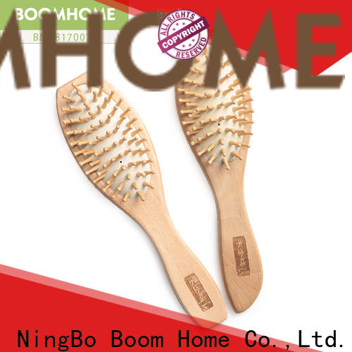 Boom Home style wooden paddle brush suppliers for travel