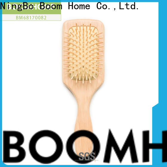 Boom Home style wooden paddle hair brush supply for travel