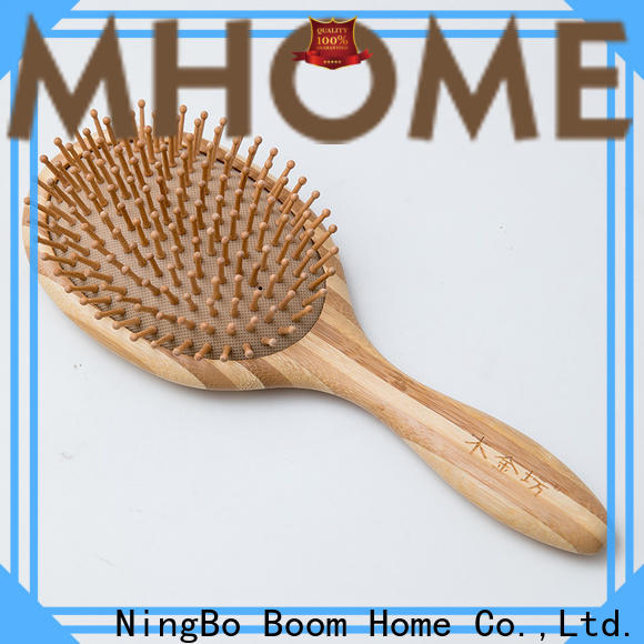 Top wooden paddle hair brush steel for business for shop