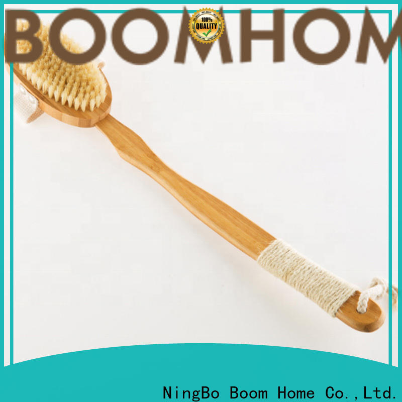 Latest body cleaning brush bamboo suppliers for shower