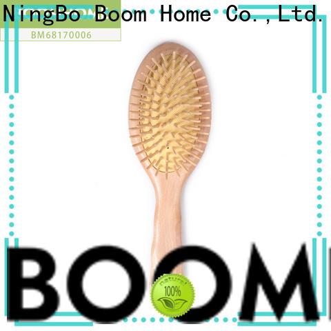 Custom wood hair brush nylon supply for home