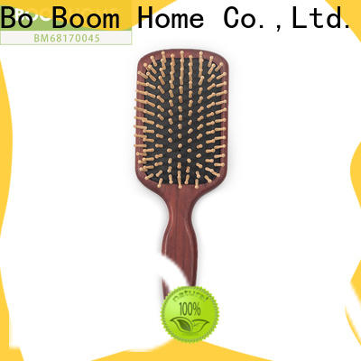 Wholesale wooden paddle hair brush health for business for travel