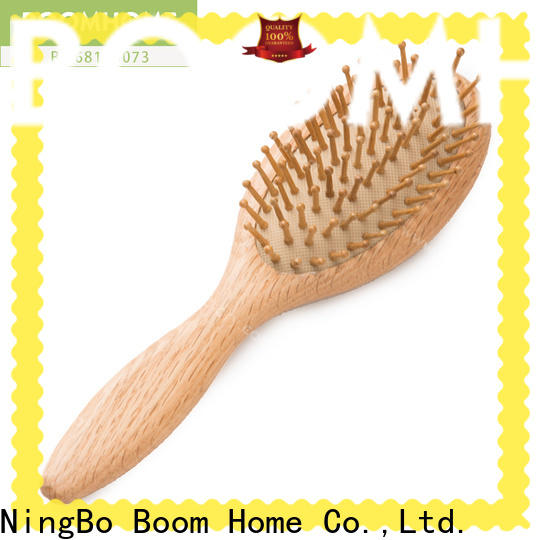 Custom wooden handle hair brush health for sale for home
