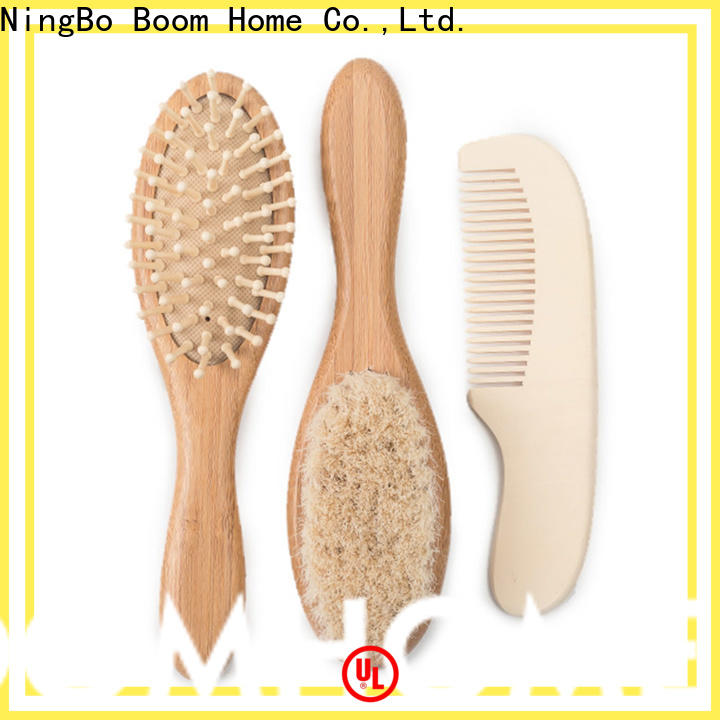 Boom Home pure baby hair brush set for business for infant