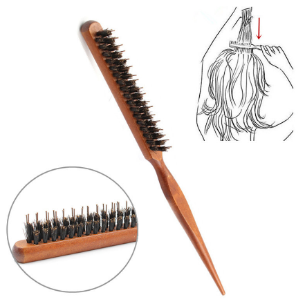 Professional Salon Teasing Back Hair Brushes Wood Slim Line Comb Hairbrush Extension Hairdressing Styling Tools DIY Kit 1 PCS BOOMHOME BM66190002