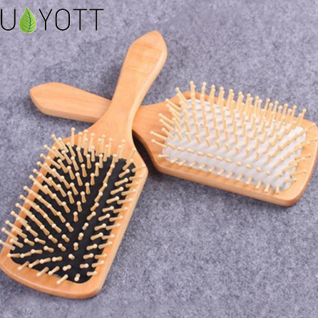 1 Comb Hair Care Brush Massage Wooden Spa Massage Comb 2 Color Antistatic Hair Comb Massage Head Promote Blood Circulation BM68190006