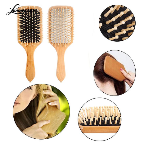Latest wooden handle hair brush logo suppliers for travel