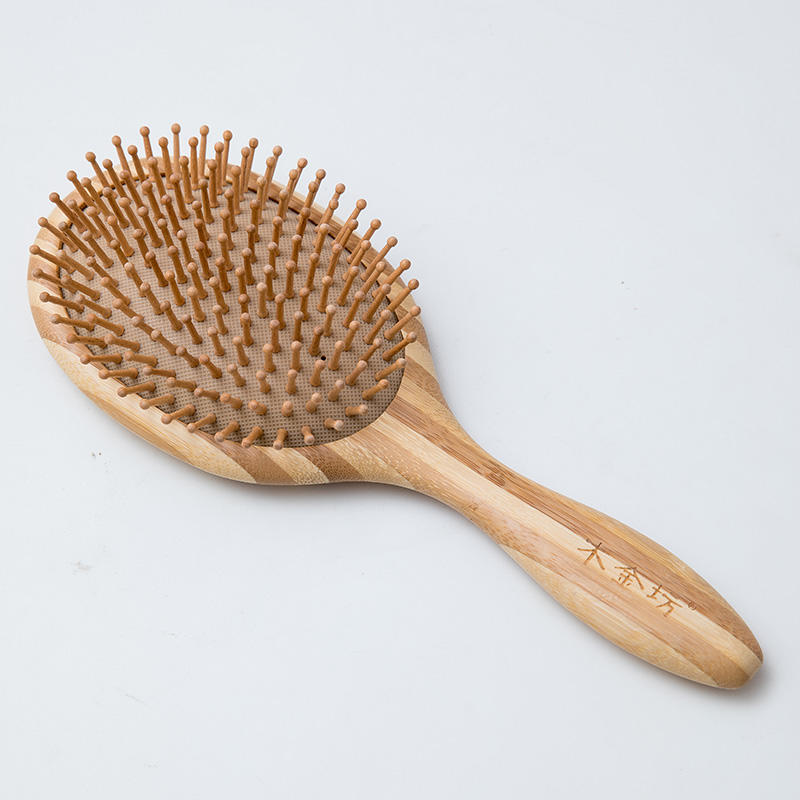 professional national custom massage eco wooden bamboo hair brush middle size beauty care salon home travel use