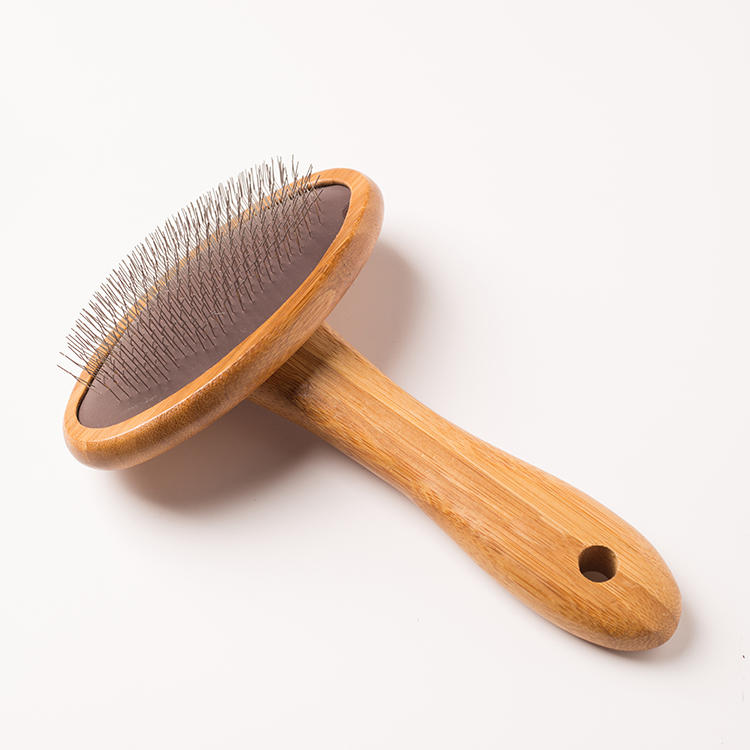 2019 explosion models can hang winter pet hair removal anti-knot steel needle wooden comb pet beauty massage special