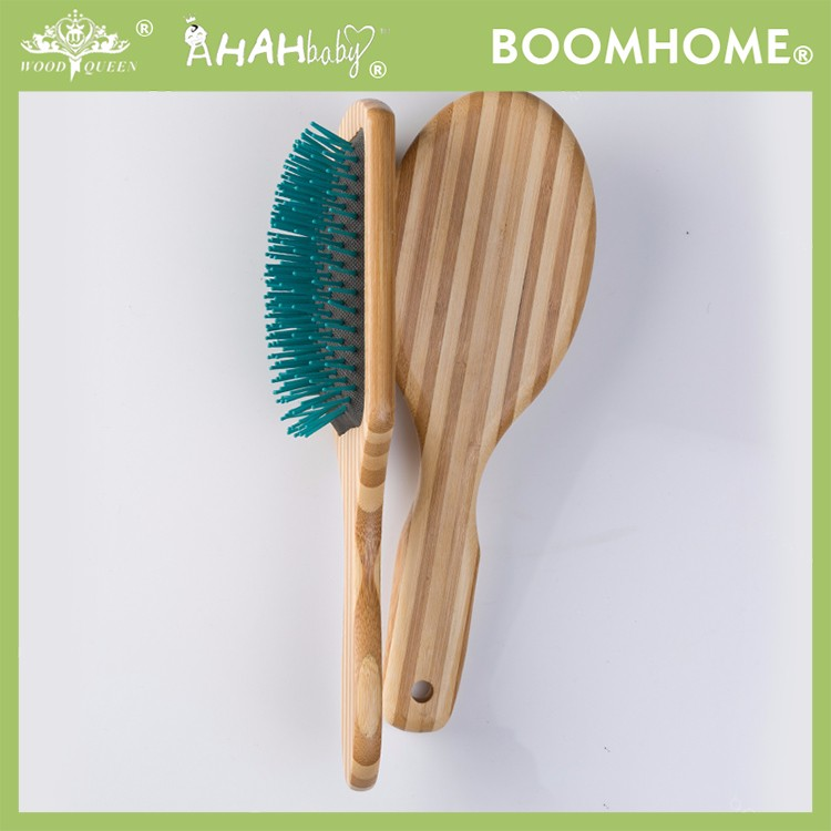Boom Home air wooden paddle hair brush for sale for hotel-4