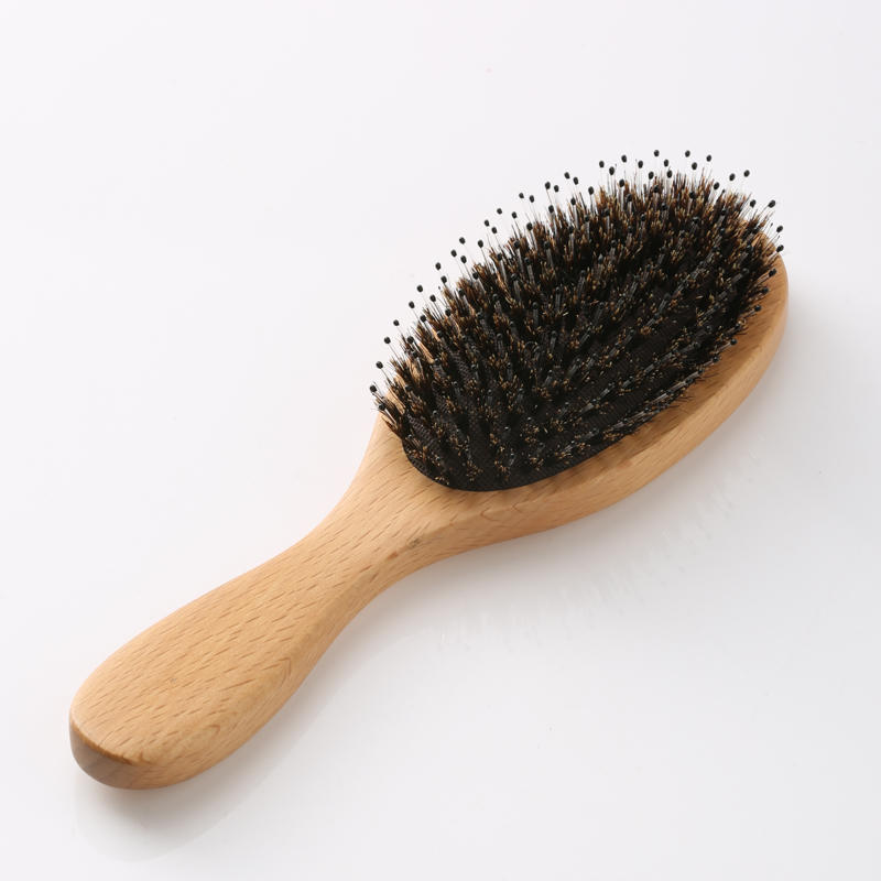 Natural Beech handle brush with boar bristle hair and Nylon Needle wholesale factory