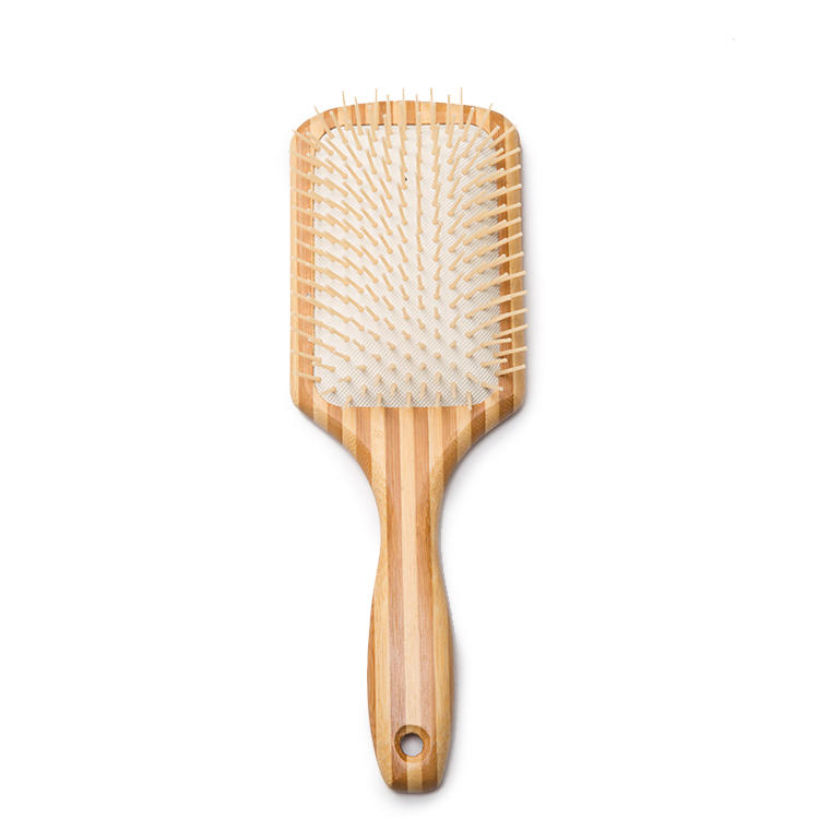 100% Pure Natural Two Color Bamboo Scalp Massage hair brushes private label