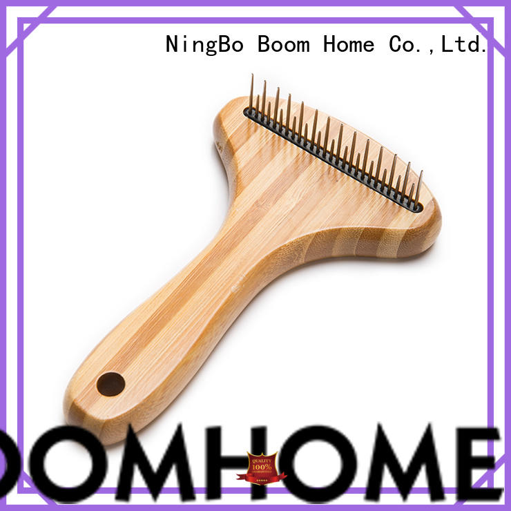 Boom Home bamboo pet brush manufacturers for fur