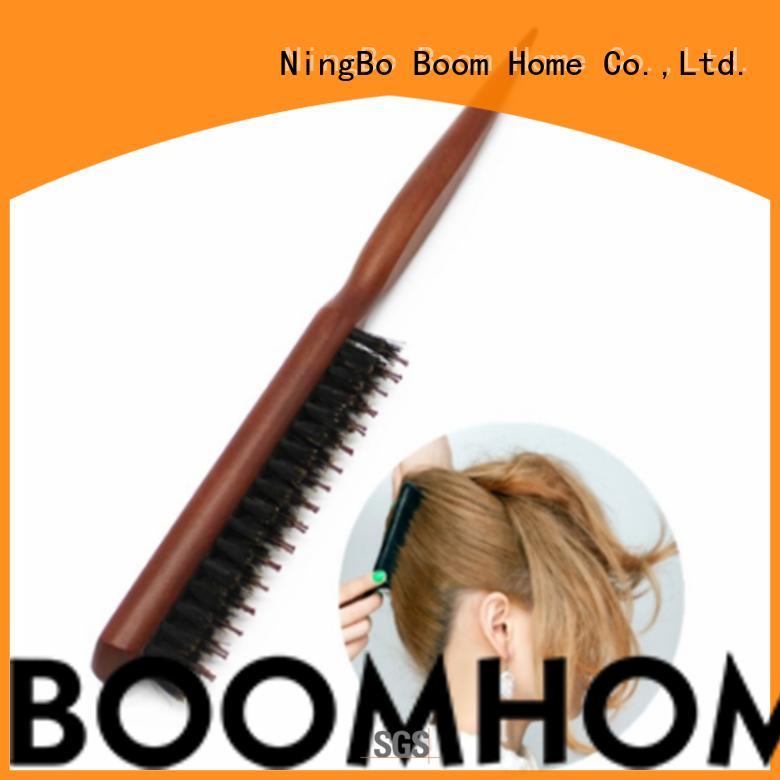 Boom Home nylon boar hair hairbrush design for hair salon