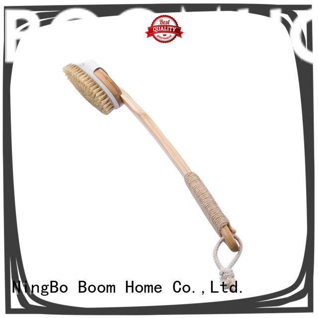 Boom Home bristle wooden body brush manufacturer for shower