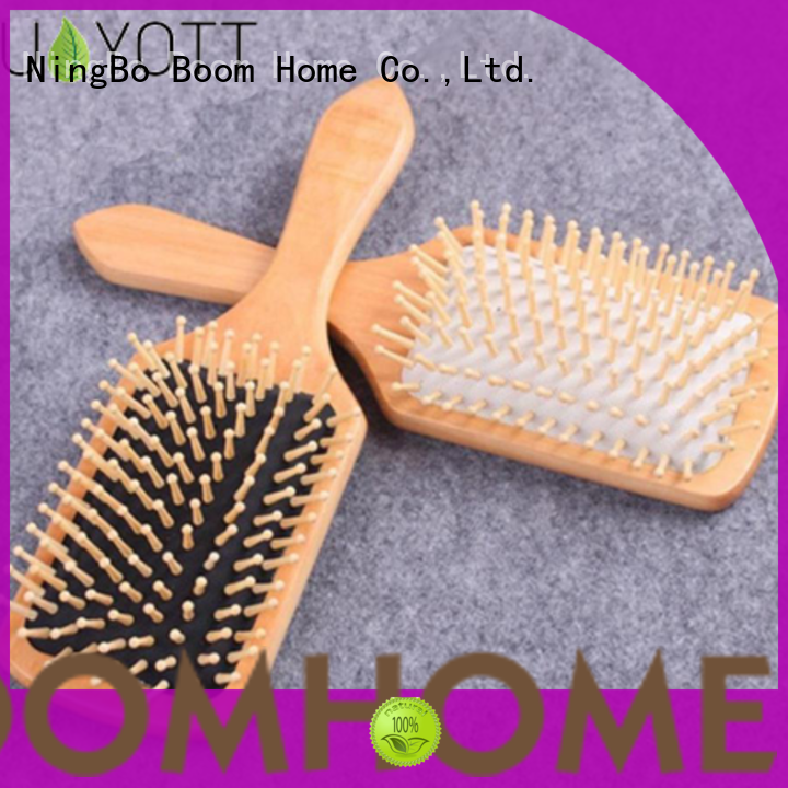 Boom Home anti-static wood hair brush inquire now for travel